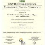 Certyfikat ISO po angielsku