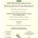 Certyfikat ISO po niemiecku