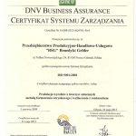 Certyfikat ISO po polsku