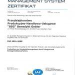 Certyfikat ISO po niemiecku 2015-2018